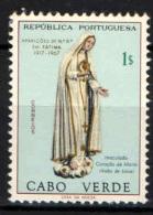 CAPO VERDE - 1967 - STATUA DELLA VERGINE MARIA - CINQUANTENARIO DELL'APPARIZIONE A FATIMA - USATO - Cap Vert