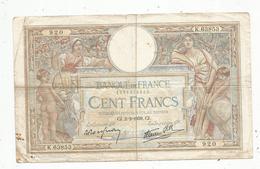 Billet , Cent Francs, 100 , 2-2-1939 , LUC OLIVIER MERSON , 2 Scans, Frais Fr 1.55 E - 1871-1952 Anciens Francs Circulés Au XXème