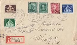DR R-Brief Mif Minr.604,605,608,617,618,620 Holzminden 5.1.37 Gel. In USA Devisenüberwachung - Briefe U. Dokumente