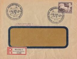DR R-Brief EF Minr.747 SST München-Riem 28.7.40 Geprüft Schlegel BPP - Briefe U. Dokumente