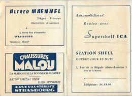 CARTE DE LA VILLE DE STRASBOURG PUBLICITÉS COMMERCES - Cartes