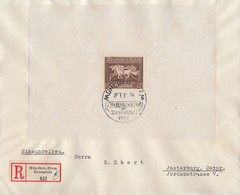 DR R-Brief EF Minr. Block 4 SST München Riem - Briefe U. Dokumente