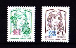 France 2018, 0.10 € + 0.80 € N**, Marianne Et La Jeunesse Surchargée 2013-2018, Paris-Philex - Unused Stamps