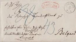 Preussen Brief Auslagen K1 Coeslin 9.6. Gel. Nach Belgard Doppelverwendung - Preussen