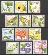 D720 PITCAIRN ISLANDS FLORA FLOWERS !!! SILVER MICHEL 26 EURO SET MNH - Plants