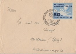 DDR Brief EF Minr.242 SST Dresden 31.10.49 Gel. Nach Bellheim (Pfalz) - DDR