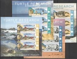 D724 2009 ASCENSION ISLAND FAUNA TURTLE RESEARCH !!! MICHEL 36 EURO 4KB MNH - Schildkröten