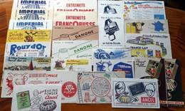 75 Buvards Différents + 28 Doubles Offerts -Thème  ALIMENTAIRE - Toutes Marques -années 50 -petit Prix Pour Début Collec - Food