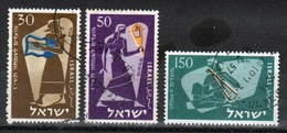 Israel Set Of Stamps From 1956 To Celebrate Jewish New Year. - Israel