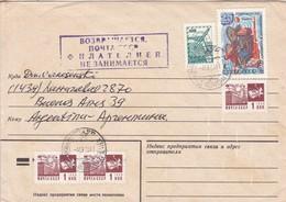 URSS CCCP CIRCULADO ARGENTINA 1983 SOBRE ENVELOPE AUTRES MARQUES. RUSSIA.-BLEUP - Briefe U. Dokumente