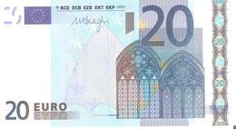 20 Euros 2002 Serie L  R026   A2     Signature 3 Mario Draghi    ..2 SCANER - 20 Euro