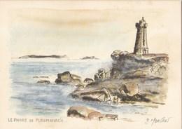 Le Phare De Ploumanac'h Aquarelle De Bernard Morvan - Ploumanac'h
