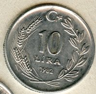 Turquie Turkey 10 Lira 1982 KM 950.1 - Türkei