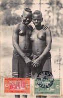 CPA SENEGAL AFRIQUE OCCIDENTALE  FORTIER  JEUNES FILLES DIOLAS FILE NU NUE NUDE GIRL - Sénégal