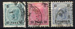 AUSTRIA - UFFICI DEL LEVANTE - 1890 - EFFIGIE DELL'IMPERATORE FRANCESCO GIUSEPPE - USATI - Oriente Austriaco