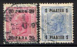 AUSTRIA - UFFICI DEL LEVANTE - 1903 - EFFIGIE DELL'IMPERATORE FRANCESCO GIUSEPPE - USATI - Oriente Austriaco