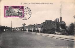 CPA TOGO LE CHEMIN DE FER LIGNE ATAKPAME LOME TRAIN - Togo