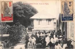 CPA GABON LIBREVILLE SORTIE DE L'EGLISE - Gabon