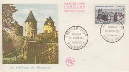 Enveloppe  FDC 1er  Jour   FRANCE   Chateau  De  FOUGERES   1960 - 1960-1969