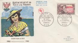 Enveloppe  FDC 1er  Jour   FRANCE  Rattachement  De  NICE  à  La  FRANCE  1960 - 1960-1969
