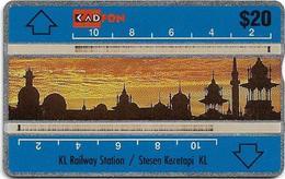 Malaysia (Kadfon) - K.L. Railway Station - L&G - 107D - 1991, 20RM, 170.000ex, Used - Malaysia