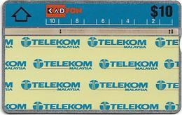 Malaysia (Kadfon) - Telekom Logo 2 - L&G - 303D - 1993, 10RM, 100.000ex, Used - Malaysia