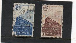 FRANCE   2 Timbres Sans Valeur Dans La Cartouche    1941    Y&T: 174 Et 175  Colis Encombrants   Oblitérés - Oblitérés