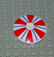 Légo Parasol Parapluie 4x4 Rouge Blanc Et Bleu Ref 3960pb002 - Lego Technic