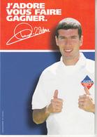 Zinédine Zidane Avec Pub Leader Price - Fútbol