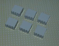 Légo 6 X Brique 2x4x3 Gris Ref 30144 - Lego Technic
