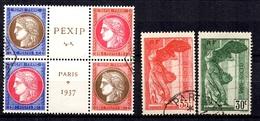 France YT N° 348/351 Et N° 354/355 Oblitérés. B/TB. A Saisir! - Used Stamps