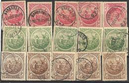 7Rr-772:  Restje Van 15 Zegels : 5x N° 103/5... Om Verder Uit Te Zoeken... - Barbades (1966-...)