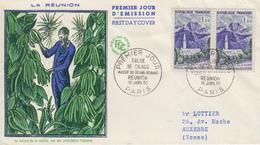 Enveloppe  FDC  1er  Jour   FRANCE   Eglise  De  CILAOS  1960 - 1960-1969