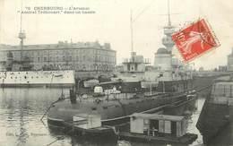 """CHERBOURG - L'arsenal, """"Amiral Tréhouart"""" Dans Un Bassin. - Krieg"""