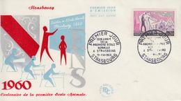 Enveloppe  FDC  1er  Jour   FRANCE   150éme  Anniversaire  1ére  ECOLE  NORMALE  STRASBOURG  1960 - 1960-1969