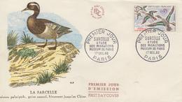 Enveloppe  FDC  1er   Jour   FRANCE   Oiseau  :  La   SARCELLE    1960 - 1960-1969