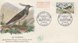 Enveloppe  FDC  1er   Jour   FRANCE   Oiseau  :  Le   VANNEAU    1960 - 1960-1969