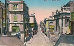 2  CPA  De  MALTE  -    Strada  Ste  Lucia ,  Et  Strada  Réale .    CPA  Couleur  De  1916 - Malte