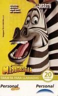 TARJETA TELEFONICA DE ARGENTINA, PREPAGO. PER-0056, CINE - MADAGASCAR - MARTY. (027) CEDINSA - Cinema