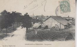 CHAMPAGNE SUR VINGEANNE  VUE GENERALE - Francia