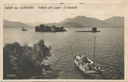 X2792 Cannobio (Verbania) - Saluti Da Cannero - Veduta Del Lago Maggiore - I Castelli - Barche Boats / Non Viaggiata - Italie