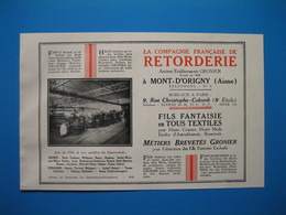 (1936) Cie RETORDERIE (Anc. Éts Gronier) Mont-d'Origny (Aisne) -- Corderie Alsacienne DOMMEL à Sarre-Union (Bas-Rhin) - Documentos Antiguos
