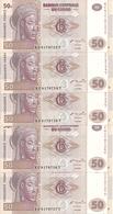 CONGO 50 FRANCS 2007 UNC P 97 ( 5 Billets ) - Non Classés
