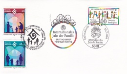 Germany FDC 1994 Internationales Jahr Der Familie + Wien United Nations    (DD16-40) - Joint Issues