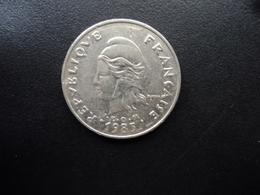 NOUVELLE CALÉDONIE : 20 FRANCS  1983   KM 12    TTB - New Caledonia
