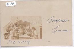 SOMMESOUS- CARTE-PHOTO- PAUSE BOISSON DEVANT UN CAFE-  RECT/VERSO- 1902 - Sonstige Gemeinden