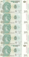 CONGO 20 FRANCS 2003 UNC P 94 ( 5 Billets ) - Non Classés