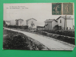 CPA LA NARTELLE LES VILLAS LA PROVENCE PITTORESQUE  (83 VAR) ANIMEE WAGONS TRAIN MAISON 1920 - France
