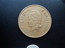 NOUVELLE CALÉDONIE : 100 FRANCS  1976   KM 15 / G.130 *    SUP 55 - New Caledonia
