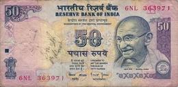 BANCONOTA   DA 50  RUPEES    INDIA  -    Anno Imprecisato - India